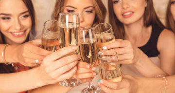 Enjoy intimate moments with friends with champagne at Alexander House
