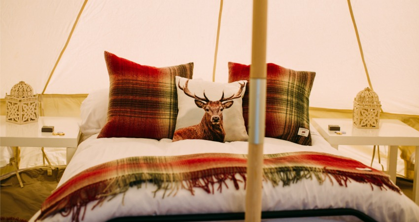 Bell Tents to Hire | Glamping Festival Wedding Perthshire