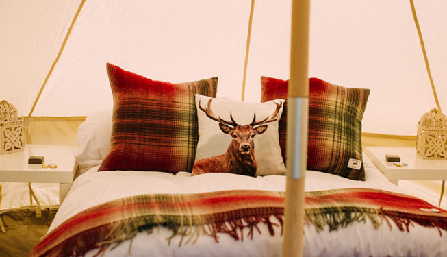 Glamping Bell Tents Interior