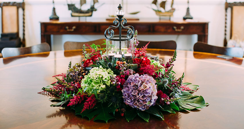 Local florists can dress your intimate wedding creating a magical moment for you