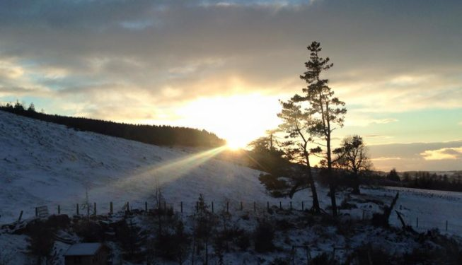 Snow at Luxury Self-Catering Holiday with Poll & Hot Tub House | Geneagles Perthshire