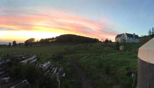 Sunrise at Alexander House - Glamping in Scotland