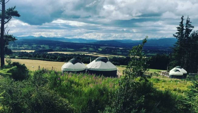 Our private and secluded yurts - Sunrise at Alexander House - Glamping in Scotland