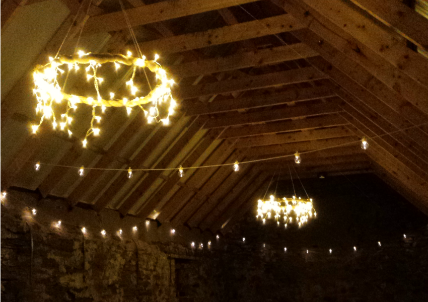 Scottish Festival Wedding - Festoon Lighting Ideas