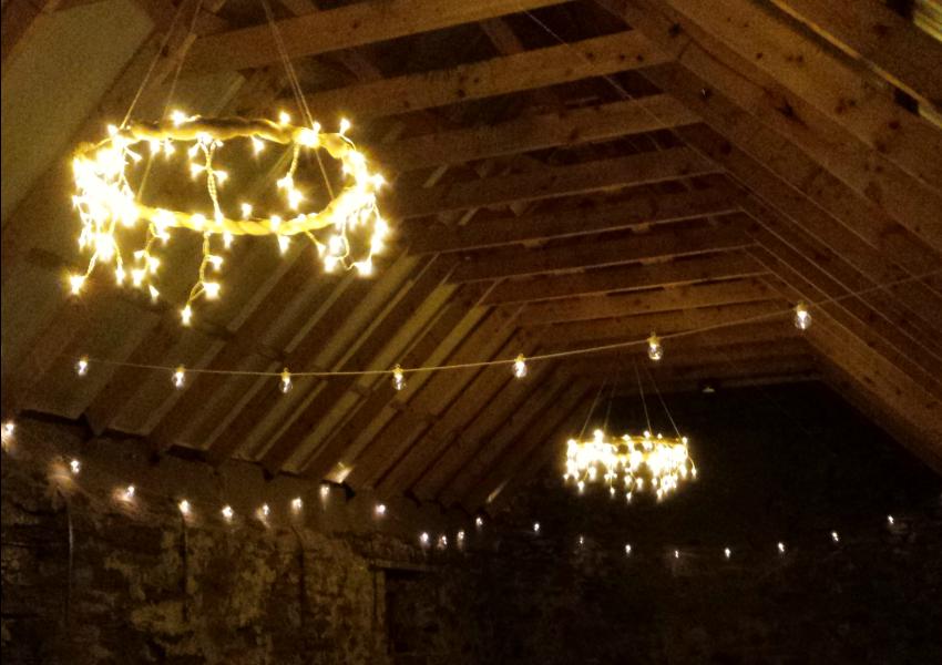 Scottish Festival Wedding - Festoon Lighting Ideas