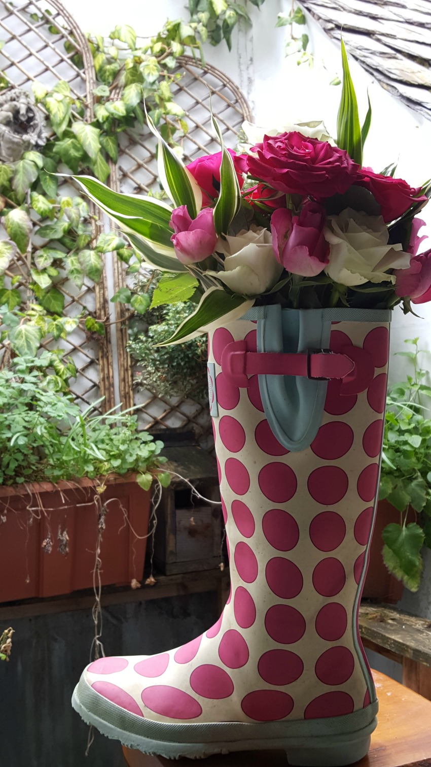 Scottish Festival Wedding - Welly Boot Flowers Idea