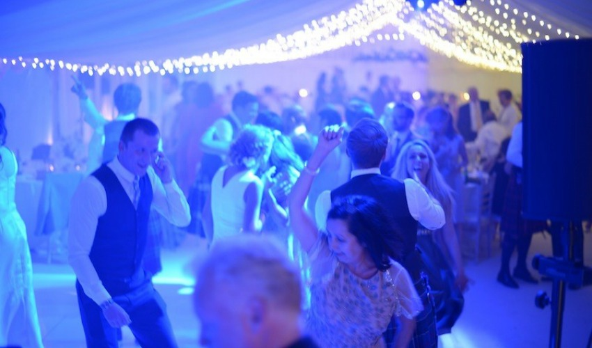 Wedding Lighting Ideas | Coloured Dance Floor Lighting