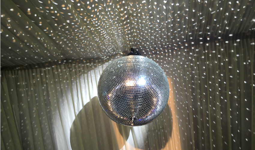 Wedding Lighting Ideas | Dance Floor Lighting Glitter Ball