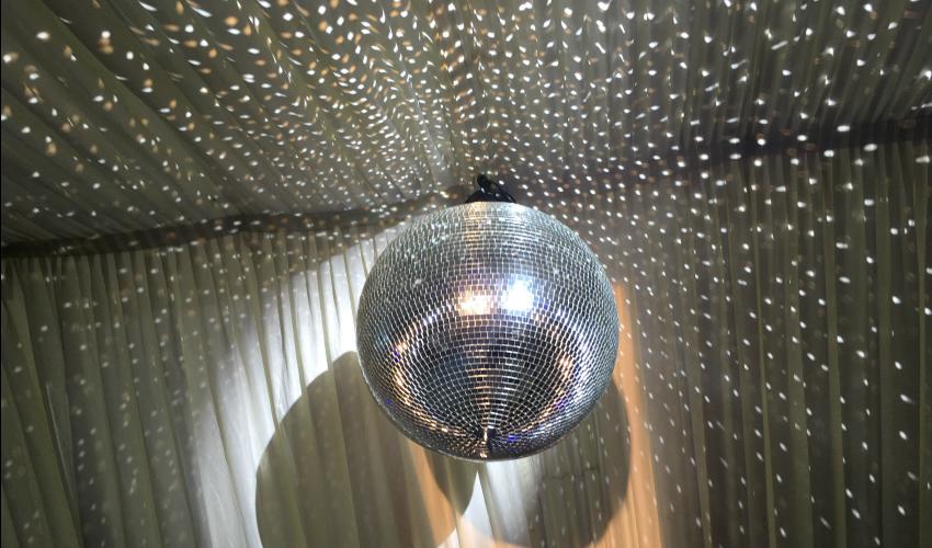Wedding Lighting Ideas | Dance Floor Lighting Glitter Ball