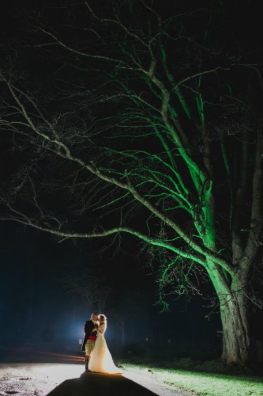 Wedding Lighting Ideas | Outdoor Spotlight Lighting