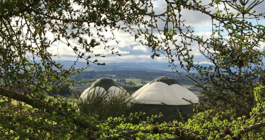 Glamping Yurt with Hot Tub | Gleneagles Perthshire Scotland