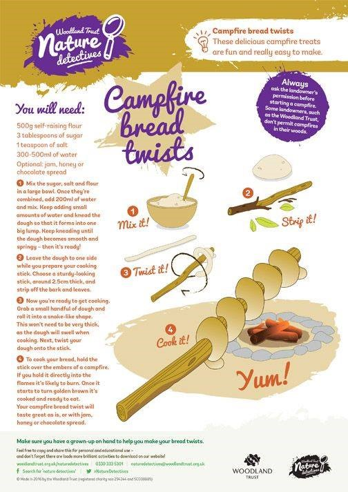 Campfire Cooking Recipes - Bread Twists