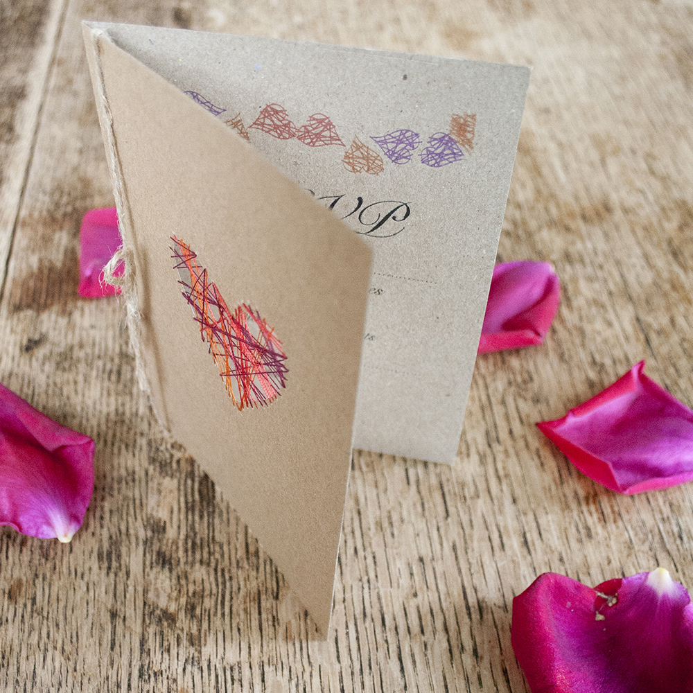 Wedding Stationery - Freefall Design | Hand Finishing