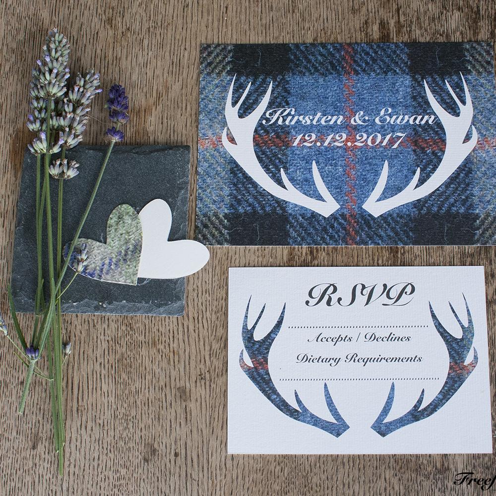 Wedding Stationery - Freefall Design | Tartan