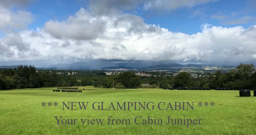 Cabin Juniper | Dog & Kid Friendly Glamping with Hot Tub | Gleneagles Perthshire