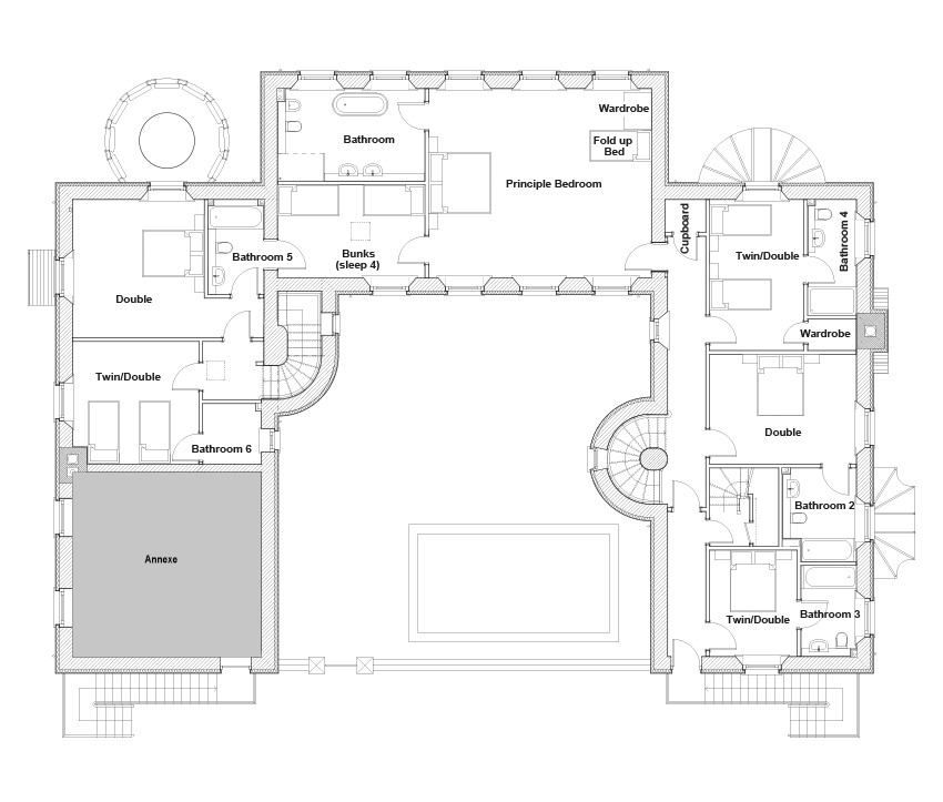 Alexander House Floor Plan | Holiday House near Gleneagles