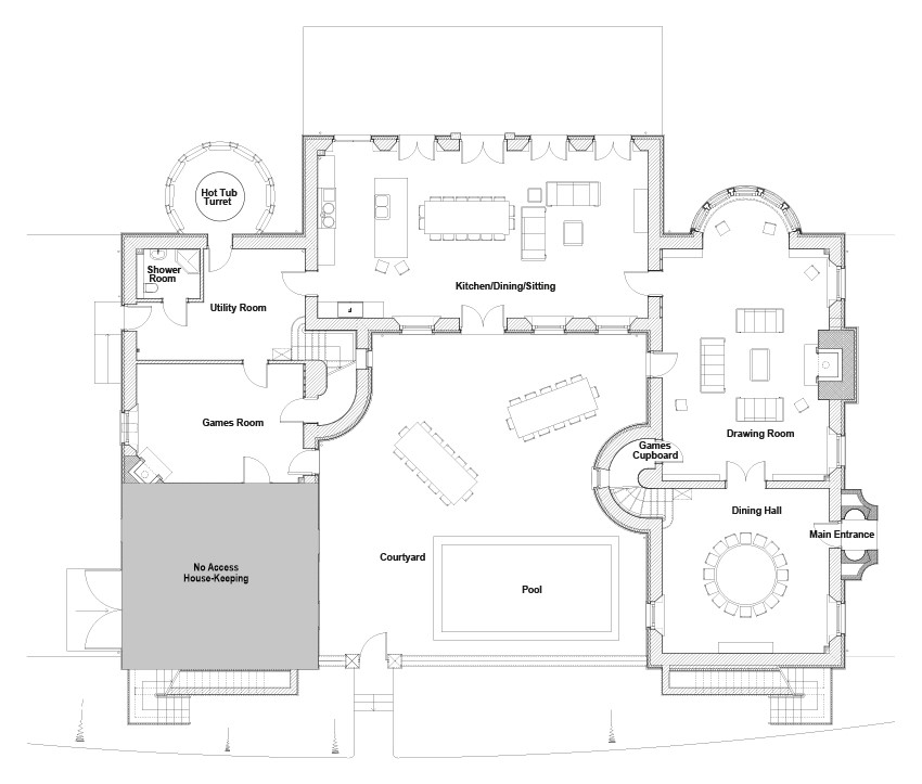 Alexander House Floor Plan | Holiday House near Gleneagles