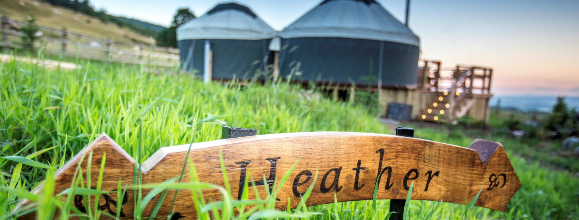 Yurt Luxury Glamping with Hot Tub | Near Gleneagles Perthshire | Yurt Heather