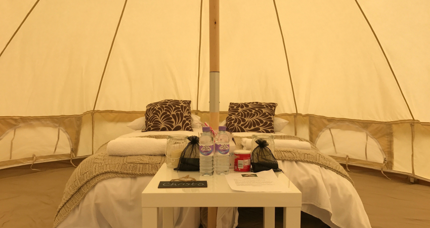 Bell Tent Camp Pop-up near Gleneagles Perthshire   Bell Tents Hen Do