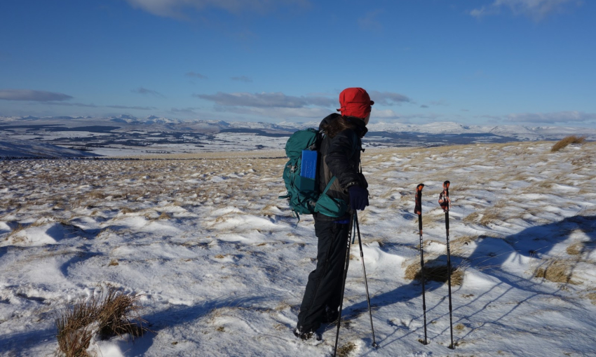 Winter Activities - Snow Shoeing Ochils Perthshire
