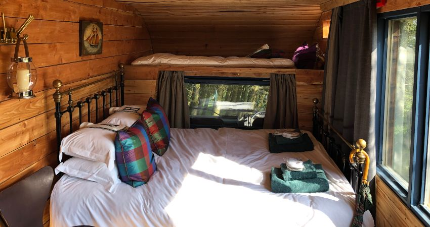 Cabin glamping for families and dogs, in Perthshire, Scotland