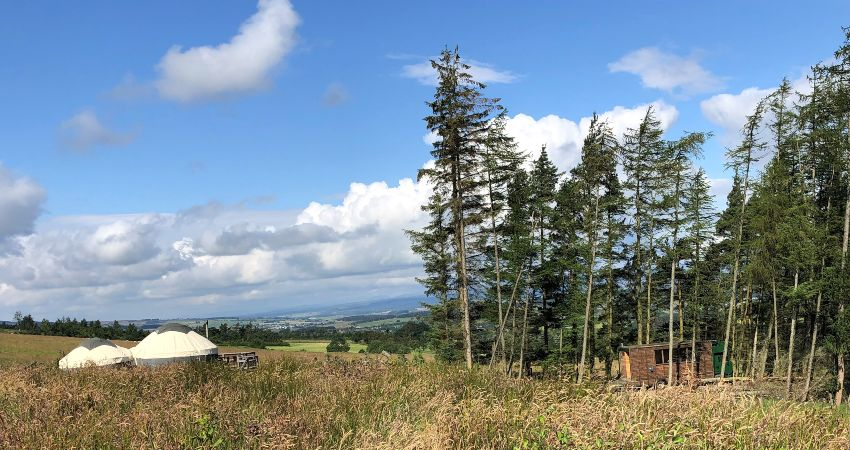 Luxury Glamping with Hot Tubs in Scotland | Near Gleneagles Perthshire